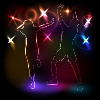 Dança de discoteca background
