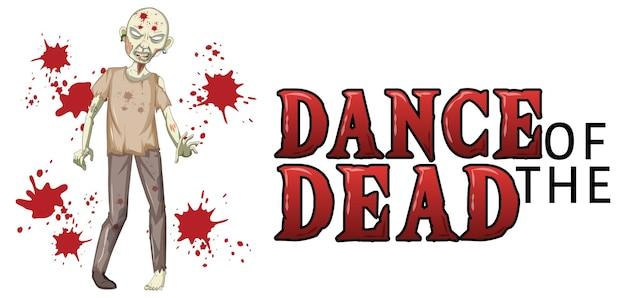 Dança dos mortos com zumbi assustador