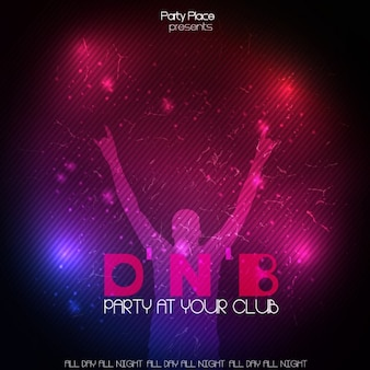 Dança poster do partido do clube