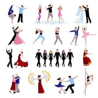 Dançando vários estilos de pessoas de dança