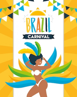 Dançarina brasil carnaval