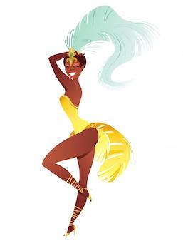 Dançarino de samba brasileiro