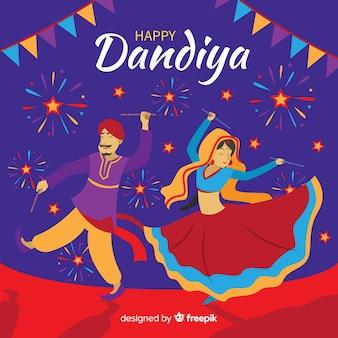Dançarinos de dandiya