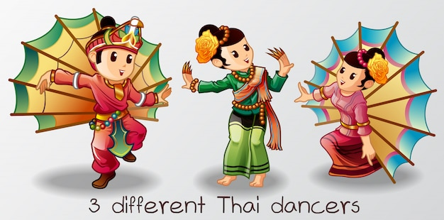 Dançarinos tailandeses