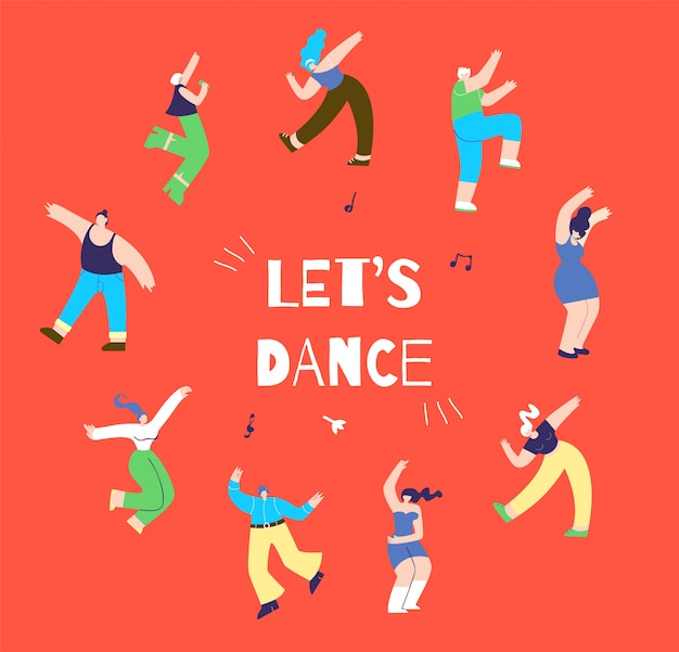 Dancing disco man woman bandeira orientada para a ação