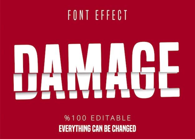 Danificar texto, efeito de fonte editável
