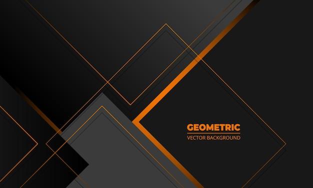Dar cinza negócios elegância abstrato geométrico com linhas laranja