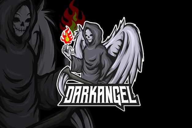 Dark anggel - modelo de logotipo esport