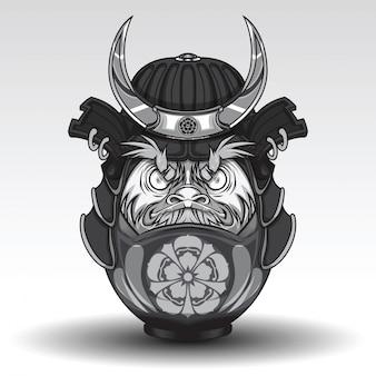 Daruma dall tem em samurai warrior armor
