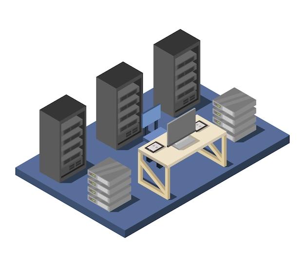 Data center isométrico