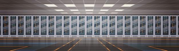 Data center room hosting server banco de dados de informações do computador sincronizar tecnologia