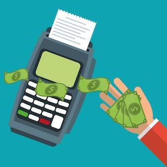 Dataphone tecnologia pagar contas
