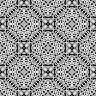 De fundo batik preto e branco