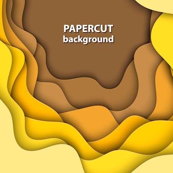 De fundo vector com corte de papel amarelo gradiente