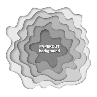 De fundo vector com corte de papel branco