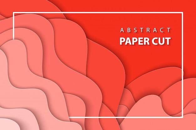 De fundo vector com corte de papel coral pastel