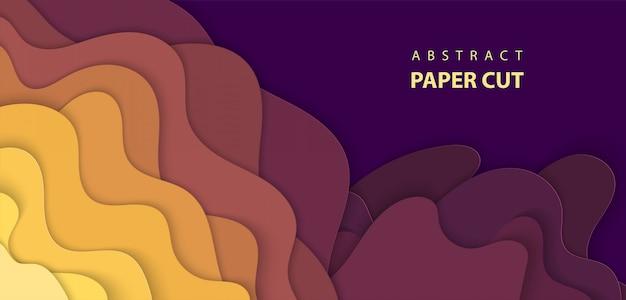De fundo vector com corte de papel multicolor