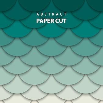 De fundo vector com papel bege e verde cortado