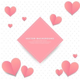De fundo vector coração