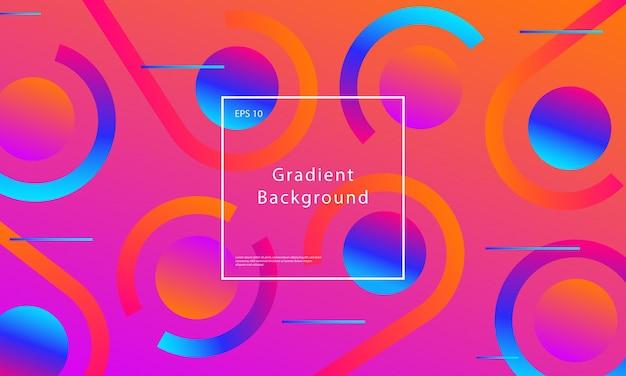 De fundo vector gradiente abstrato mínimo com formas geométricas e gradientes web dinâmicos na moda. cartaz futurista gráfico fluido de cor suave. design de cor líquida. eps10.