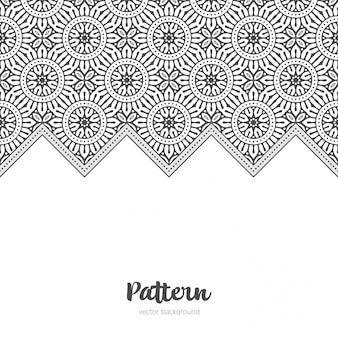 De fundo vector islâmica com mandala