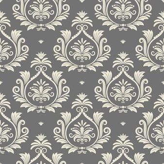 De fundo vector sem costura barroco. têxtil renascentista, tecido de design, ilustração vetorial