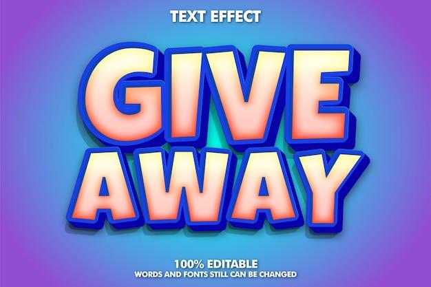 Dê um efeito de texto editável incrível efeito de texto em negrito de desenho animado