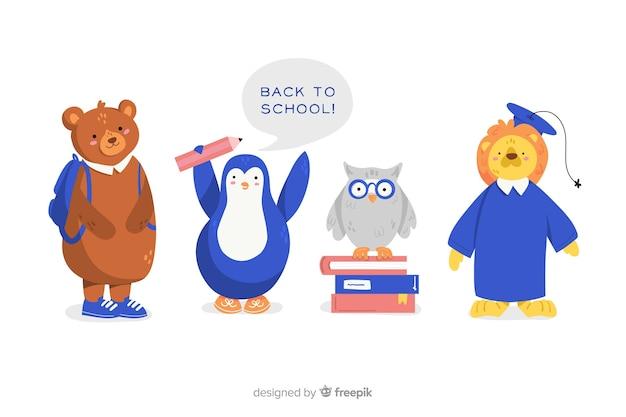 De volta à coleção de animais de escola