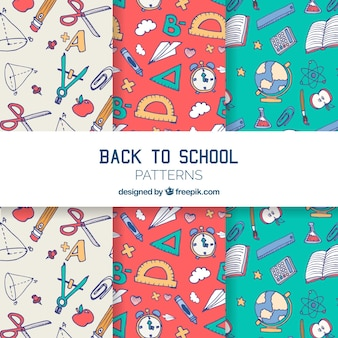 De volta à coleção de padrões de escola com elementos