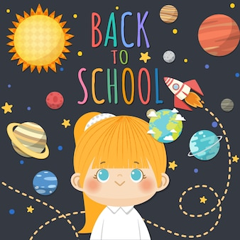 De volta à escola com crianças sorridentes
