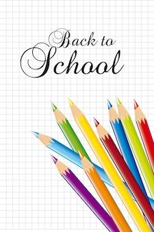 De volta à escola com escola colorida