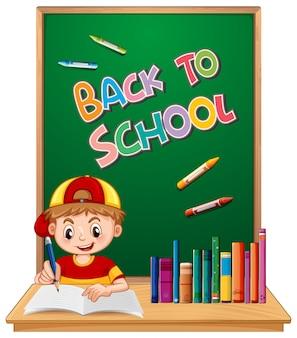 De volta à escola com menino