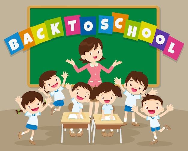 De volta à escola com professor e aluno