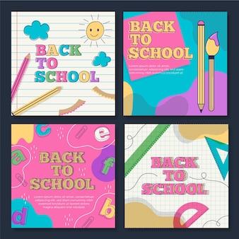 De volta à escola instagram posts