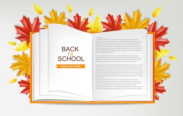 De volta à escola livro aberto