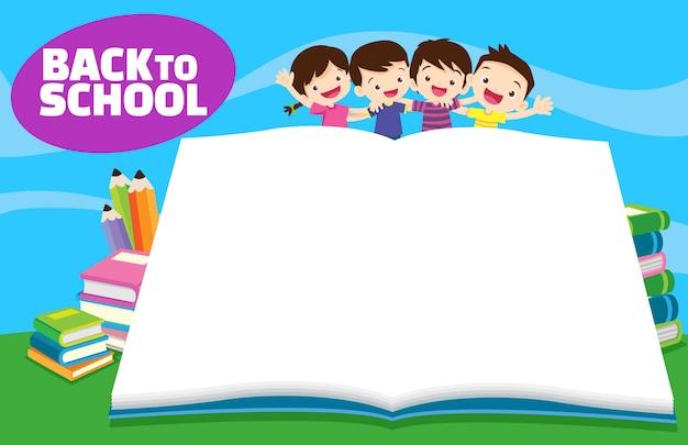 De volta à escola livro vazio