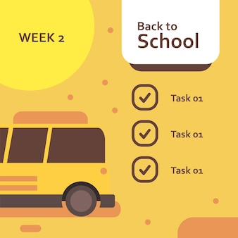 De volta à semana da escola