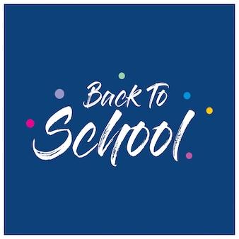 De volta à tipografia da escola com fundo azul