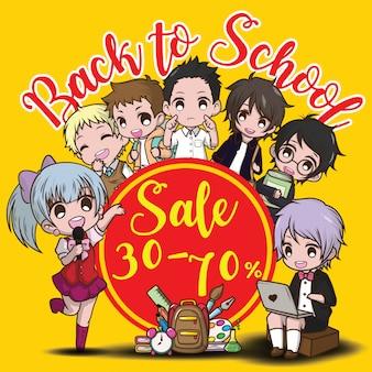 De volta ao banner de venda de escola