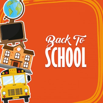 De volta ao cartão da estação da escola