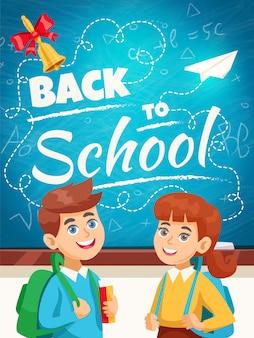 De volta ao cartaz do fundo da escola