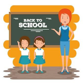 De volta ao ensino da professora para os alunos