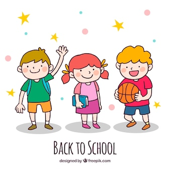 De volta ao fundo da escola com as crianças