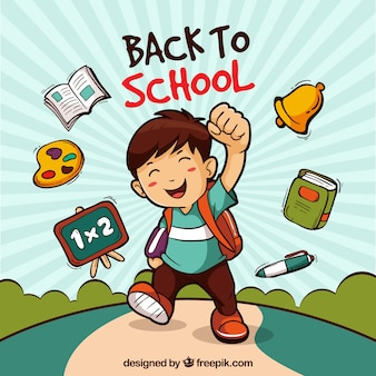 De volta ao fundo da escola com o menino