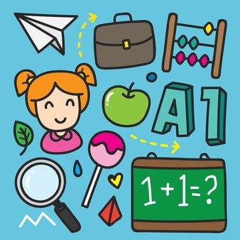 De volta ao ícone da escola doodle