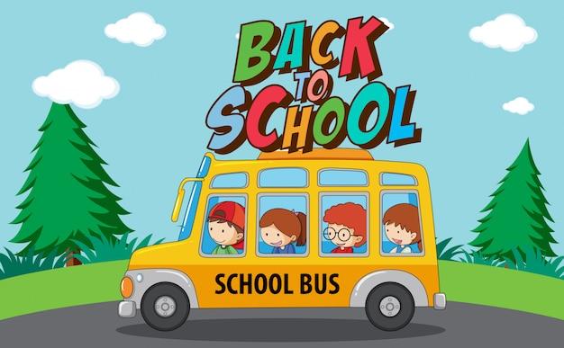 De volta ao modelo de escola com ônibus escolar