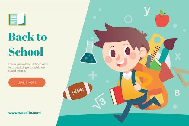 De volta ao modelo de layout da web da escola
