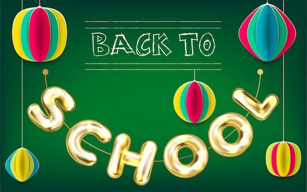 De volta ao poster verde da escola
