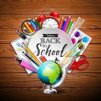De volta ao projeto da escola com lápis colorido