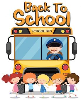 De volta ao tema da escola com crianças e ônibus escolar